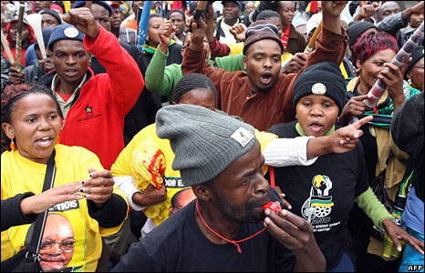 Zuma supporters in Pietermaritzburg
