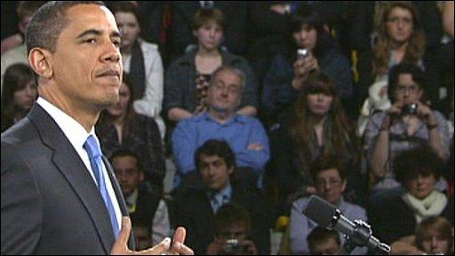 President Obama in Strasbourg