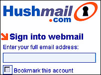 Hushmail website