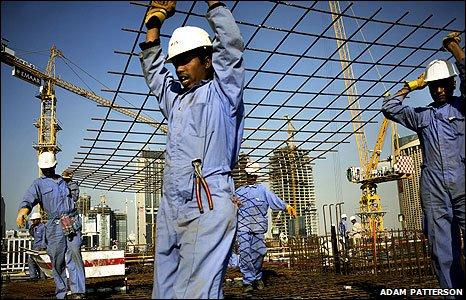 Dubai construction workers