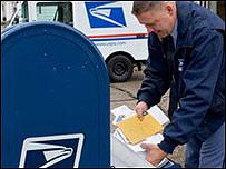 Trabajador del servicio postal en EE.UU.