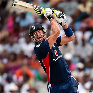 Kevin Pietersen batting in St Lucia
