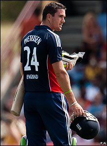 Kevin Pietersen's innings comes to an end