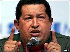Venezuelan President Hugo Chavez (file image)