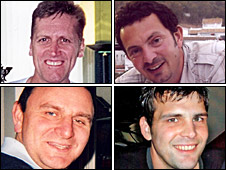 Top row: Raymond Doyle (left), and Nairn Ferrier (right). Bottom row: Warren Mitchell (left) and Stuart Wood (right)