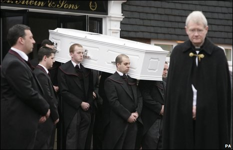 "Jade Goody""s coffin"