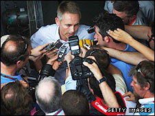 Martin Whitmarsh fields the media's questions in Malaysia