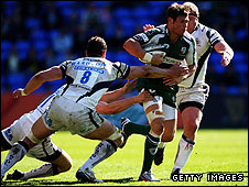Dan Ward-Smith of Bath tackles London Irish's Adam Thompstone
