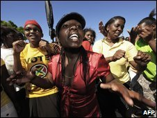 Cope supporters at a rally in Nenga Village in the Eastern Cape, 15/03