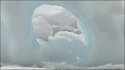 Glacier on Wilkins ice shelf in Antarctic