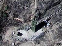 Полигон Мусудан-ни (вид из космоса, 11 марта 2009 г.)