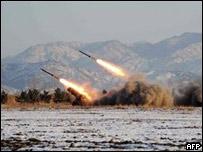 Испытания ракетных систем в КНДР