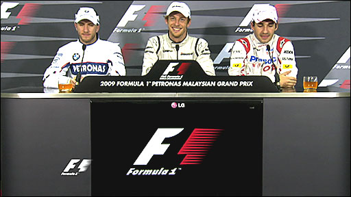 Nick Heidfeld, Jenson Button, Timo Glock