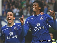 Leon Osman (left) and Jo (right)