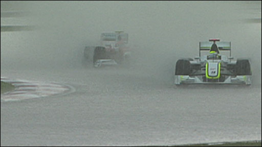 Jenson Button leads Timo Glock