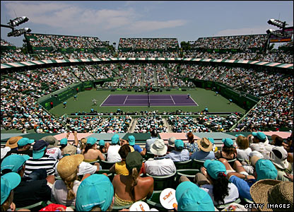 The stadium court at Crandon Park Tennis Centre