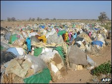 Refugee tents in Darfur, March 2009 (image from Medecins Sans Frontieres)
