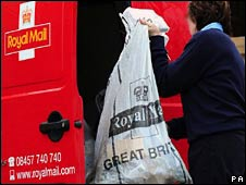 Royal Mail postal worker
