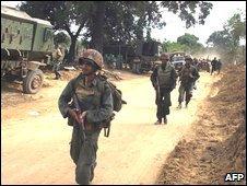 Sri Lankan troops, file pic