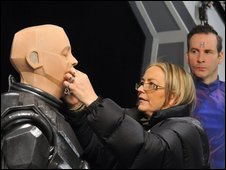 Kryten on set
