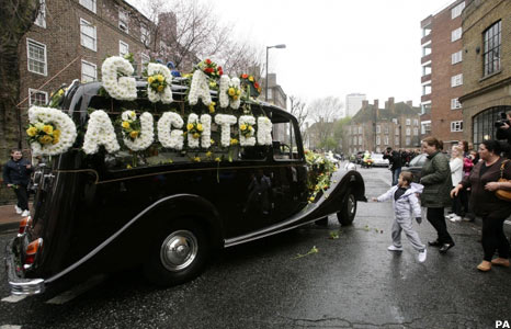 Jade Goody's hearse