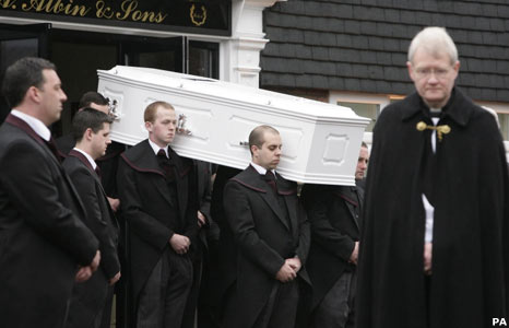 Jade Goody's coffin