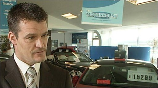 Richard Piste,manager of a car showroom in Staffordshire