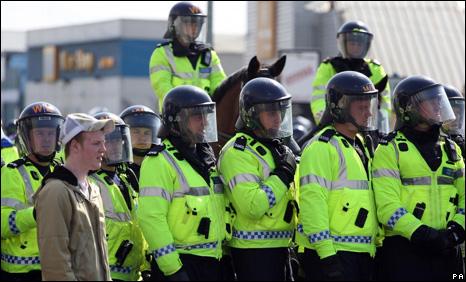 A police cordon outside Ninian Par