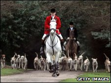 Huntsmen with the Avon Vale Hunt ride out on their traditional Boxing Day hunt