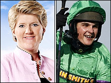 Clare Balding and Liam Treadwell