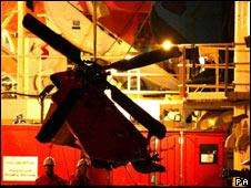 Super Puma wreck arrives in Aberdeen