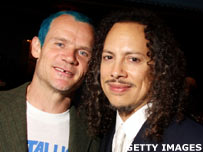 Flea and Metallica's Kirk Hammett