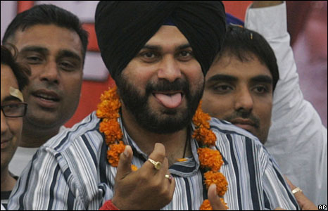 Navjot Singh Siddhu campaigning