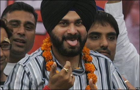 Navjot Singh Siddhu campaigning