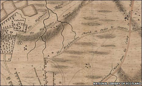 Detail from Finlayson map. Pic: NLS