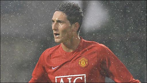 Federico Macheda celebrates after scoring for Manchester United in the Milk Cup final