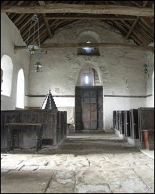 The interior of St Margaret of Antioch in Bedfordshire