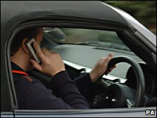 Motorist on phone