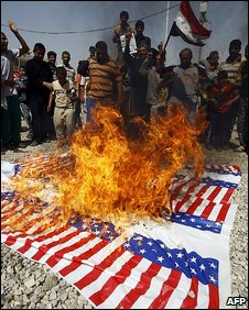 Anti-US protest in Baghdad (March 2009)