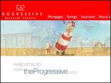 Screen grab of Progressive website