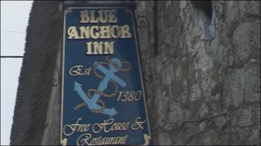 Blue Anchor sign