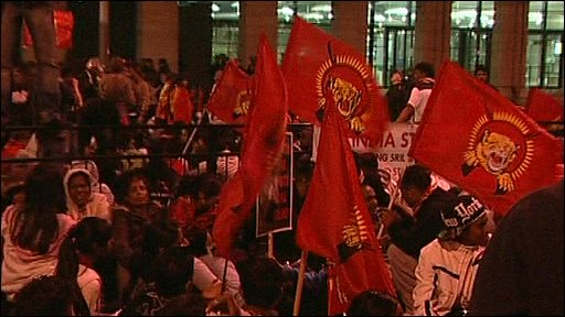 Tamil protesters in London