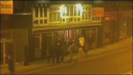 CCTV still of bottle attack scene
