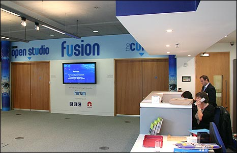 Reception space at The Forum, Norwich