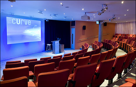 The Curve is a conference, meeting and performance space at The Forum, Norwich