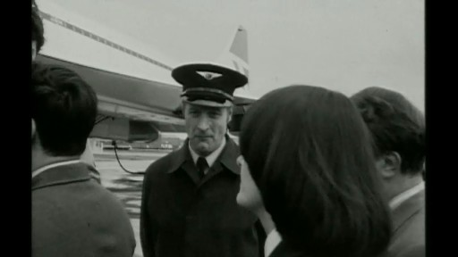 Workers boarding Concorde