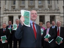 SDLP leader Mark Durkan unveiled the plan at Stormont