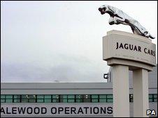 Jaguar Land Rover Halewood plant in Merseyside