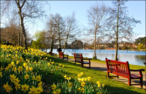 This lovely shot of Roath Park lake in the spring time was sent in by Philip Rees.