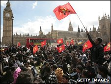 Tamil protesters at Westminster